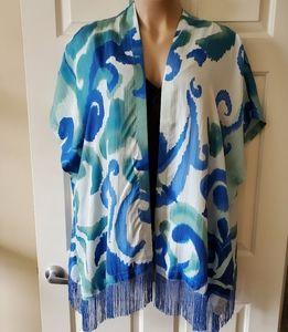 Chico's Silk Fringed Kimono